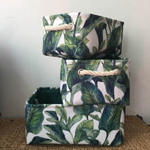 Folding Nordic Storage Basket Leaves Flowers Storage Organizer Clothes Basket Laundry Bag Sundries Toy Organizer Home Decor
