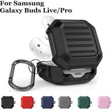 TPU Earphone Case for Samsung Galaxy Buds Live Shockproof Full body Protective Cover Shell With Hook for Galaxy Buds Pro case