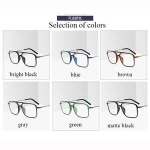 Image 4 - Bclear 超軽量正方形 ultem 眼鏡ダブルビームメガネフレーム男性と女性のモデル潮ビッグフェイス快適な