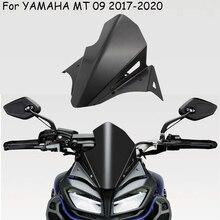 אופנוע אביזרי MT 09 מתכת קדמי שמשה קדמית זרימת אוויר רוח מטה הטיה עבור ימאהה mt 09 MT09 2017 2020
