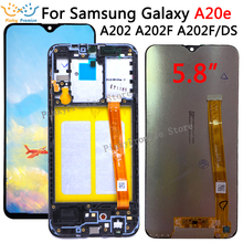 Voor Samsung Galaxy A20e A202 A202F A202DS Display Touch Screen Digitizer Vergadering A202 A202F/Ds Voor Samsung A20e Lcd