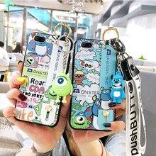 Oneplus 7 pro Cute monsters Wrist Strap Soft TPU Phone Case