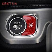Dành Cho Xe Mercedes Benz G GLE GLS Lớp G463 G500 W167 X167 GLE450 AMG GLE53 2020 Xe Động Cơ Bắt Đầu Nút Dừng viền Bao Da Miếng Dán