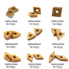 10PCS CNMG120408 TM T9125 WNMG080404 TNMG160404 DNMG150404 VNMG160408 Carbide insert External Turning Tools Lathe Cutter Tool
