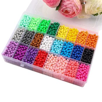 NEW DIY water spray beads 6000pcs 24 colors Refill Beads puzzle Crystal set ball games 3D handmade magic toys for children 6000pcs spray beads puzzle crystal color diy beads water spray set ball games 3d puzzle handmade magic toys for children