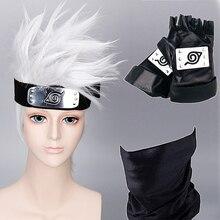 Wig Cosplay Costume-Accessories Kakashi-Mask Hatake Anime Headband Bag-Glove Weapons