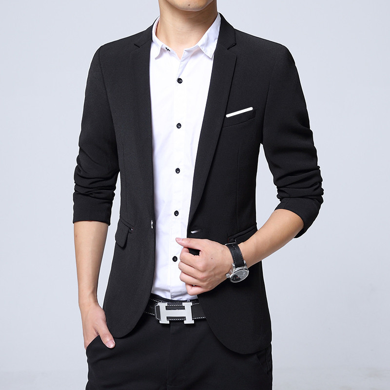 Spring And Autumn New Style MEN'S Casual Suit Slim Models Suit Coat Korean-style Trend Men'S Wear Then West On Clothes