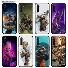 цена Thin Case for Realme X50 Pro 5G X2 C3 5i 5 6i 6 Narzo 10 10A Pro Phone Silicone Shell Guardian Rocket Raccoon Groot Treeman онлайн в 2017 году