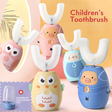 Electric-Toothbrush Oral-Care-Brush Sonic Rechargeable Silicone Kids Children 360 Cute