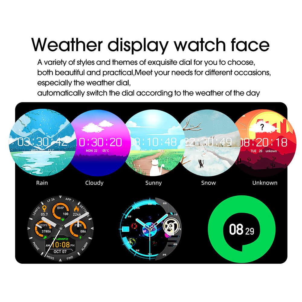 Montre intelligente hommes 1.3 pouces pleine touche 360*360 HD Amoled écran boîtier en métal Smartwatch pour Android IOS Bluetooth 5.0 météo