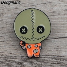 K329 Horror Film Trick 'R Treat Pins Metal Brooches and Pins Enamel Pin for Backpack/Bag Badge Brooch T-shirt Collar Jewelry k313 trick r treat horror pins metal brooches and pins enamel pin for backpack bag badge brooch t shirt halloween jewelry