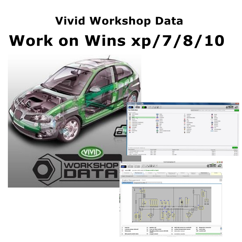 2020 Hot car repair software Vivid workshop Data ATI 10 2 software Manual Electrical Vivid CD Download link Usb flash disk