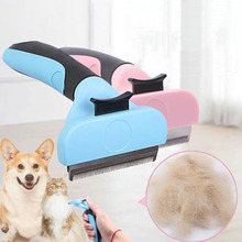 Hot Sale Comb For Cats Pet Hair Removal Dog Short Medium Brush Handle Beauty Accessories Grooming Tool