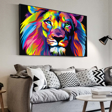 Watercolor Lion Pop Art poster And Prints Abstract Animals Canvas paintings on the wall Cuadros Pictures For Living Room