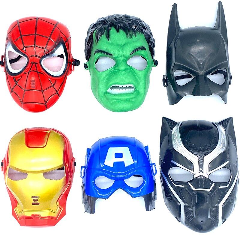 Os vingadores máscara máscara de super-herói máscaras homem de ferro hulk dos desenhos animados máscara de festa para o dia das crianças cosplay modelo pvc
