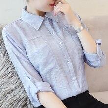 Women Shirts Elegant Cotton Linen Blouse Shirt Korean Fashion Woman Harajuku Plus Size Tops and Blouses