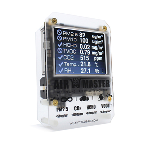Image 1 - AM7p Hcho Detector Luchtkwaliteit Monitor CO2 Sensor CO2 Sensor Pm2.5 Machine Thuis Omstandigheid Tester Co2 Meter
