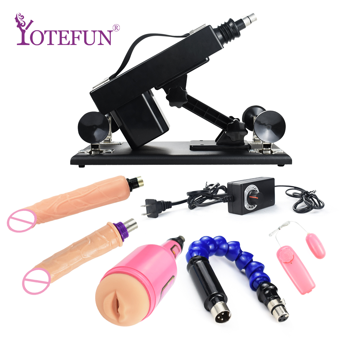Degree Adjustable Retractable <font><b>Sex</b></font> <font><b>Machine</b></font> Gun with Male Masturbator Cup and 2 Kinds <font><b>Dildos</b></font> Love <font><b>Sex</b></font> Toys For Women and men image
