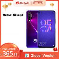 Version mondiale HUAWEI Nova 5T Smartphone 48MP caméras 32MP caméra frontale téléphone portable 6.26 ''plein écran Kirin980 8G 128G Android 9