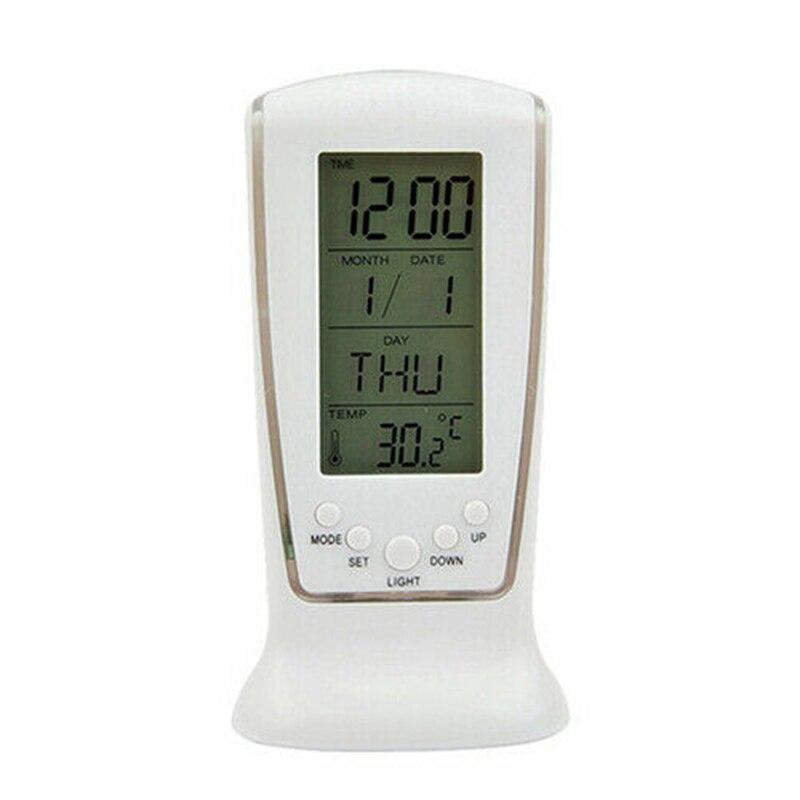 LED Digital Table Alarm Snooze Clock Night Light Thermometer Displayer