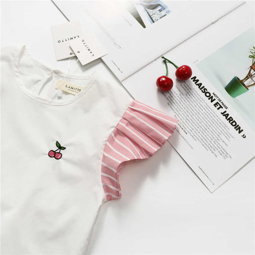 Tonytaobaby Summer New Baby Girl S Simple Design Cherry Flying Sleeve T Shirt Top Tees Aliexpress