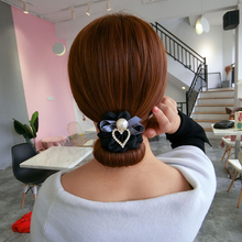 Korea cloth art bowknot contracted half ball head dish hair implement tie divine lazy person adorn artic