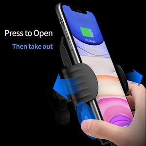 Image 3 - SIKAI 15W אוויר Vent רכב מגנטי אלחוטי מטען טלפון מחזיק עבור iPhone 11 פרו תואם עם 5W 7.5W 10W רכב שידור