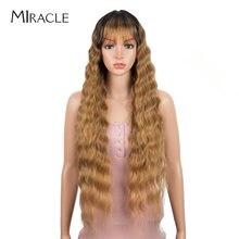 Чудо синтетический парик с челкой длинная глубокая волна Омбре