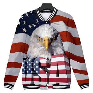 Bandeira americana águia 3d impresso jaqueta casaco das mulheres dos homens de alta qualidade streetwear moletom moda eua bandeira jaquetas roupas