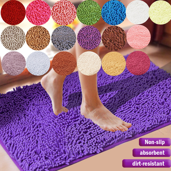 1PC Bath Mat Cheap Large Size Thicken Memory Carpet Rugs Toilet Bathtub Room Liing Room Door Bathroom Absorbent Foot Floor Mats