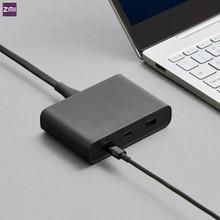 원래 Youpin ZMI 데스크탑 충전기 65W 3 포트 PD3.0 USB 2C1A 안 드 로이드 iOS 스위치 PD 3.0 QC 스마트 출력 최대 솔로 c1 65w c2 1