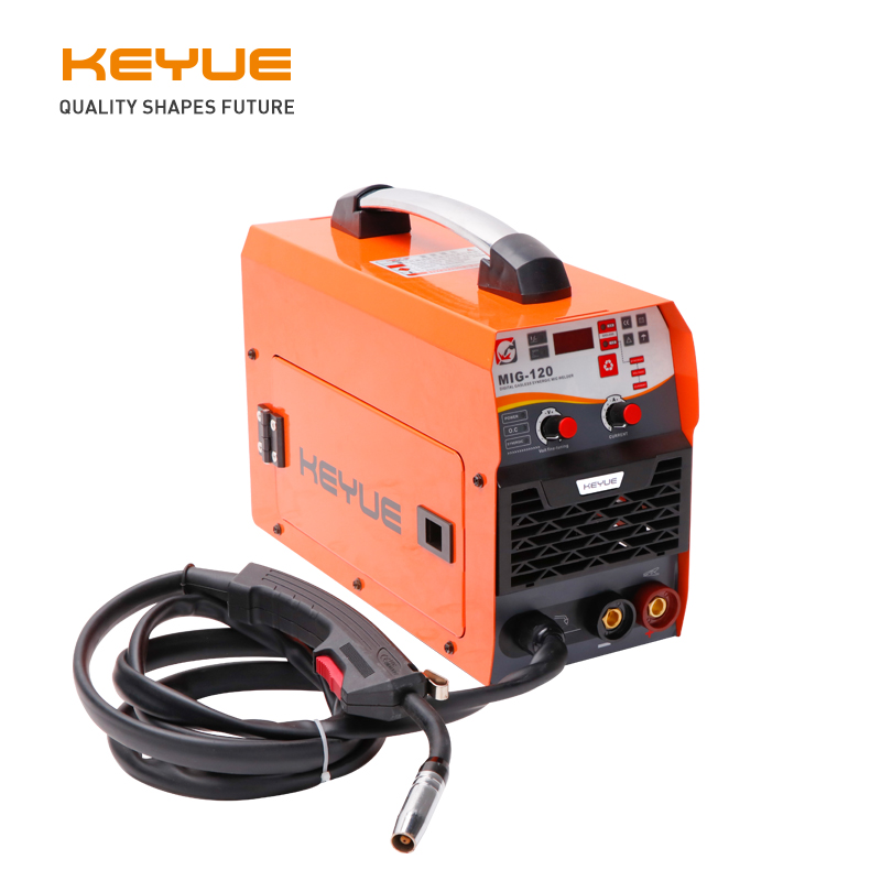 KEYUE MIG-120 Portable Welder Welding Machine Inverter MIG  220V Synergic 1kg Gasless 0.8/1.0 Flux Core ARC TIG 3 In 1 Home Use