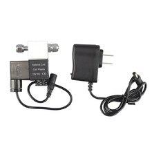 Dc 12v aquário válvula solenóide co2 sistema regulador acessórios do aquário elétrica de baixa temperatura válvula magnética para tanque de peixes