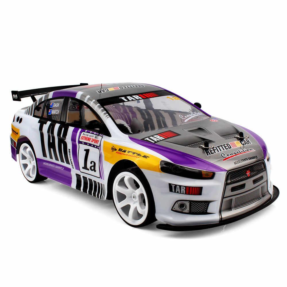 1:10 RC 70 km/h รีโมทคอนโทรลรถ 4WD LED ไฟหน้าวิทยุเครื่องแข่งรถบรรทุกของเล่นเด็ก 2019 ใหม่ 6.19