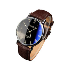 Fashion Luxury Men Faux Leather Band Watch reloj inteligente mujer Clock