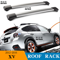 2Pcs Roof bars For SUBARU XV SUV 2012-2016  Aluminum Alloy Side Bars Cross Rails Roof Rack Luggage CUV SUV LED