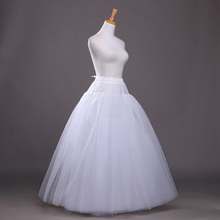 8 camadas Hoopless A Linha de Tule de Casamento Nupcial Petticoat Crinolinas Underskirt para Vestido de Noiva vestido de Noiva CQ023