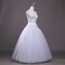 8 schichten Hoopless EINE Linie Tüll Hochzeit Braut Petticoat Unterrock Krinolinen für Hochzeit Kleid Brautkleid CQ023