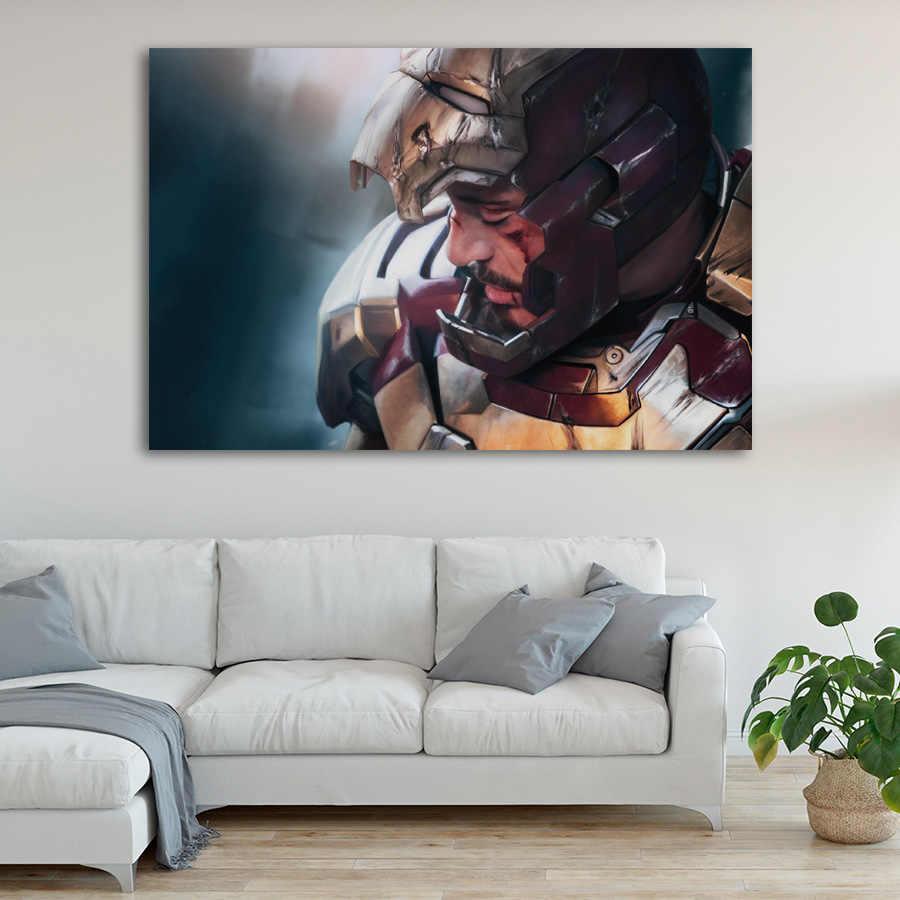 Современные настенные художественные картины Мстители эндгейм персонаж Железный человек Тор Капитан Америка Постеры фильма картина холст домашний декор