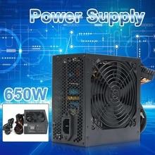 Блок питания 650 Вт Peak- PSU ATX 12 В для игрового ПК, 24Pin / Molex/Sata, 12 см вентилятор, компьютерный блок питания для BTC