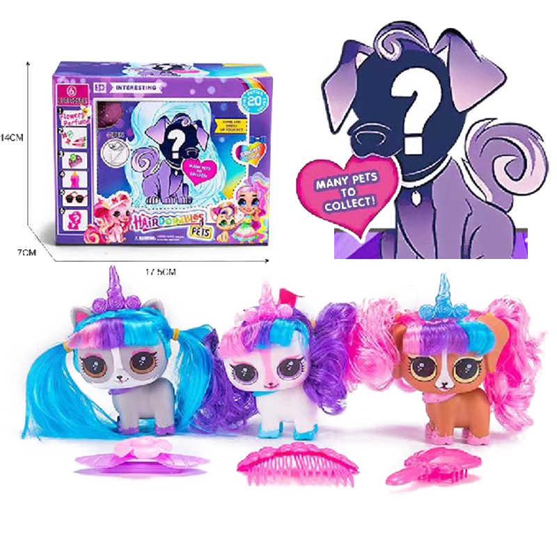 Lols boneca cabelo animal de estimação boneca com acessórios da menina brinquedo manual caixa cega boneca brinquedos para crianças