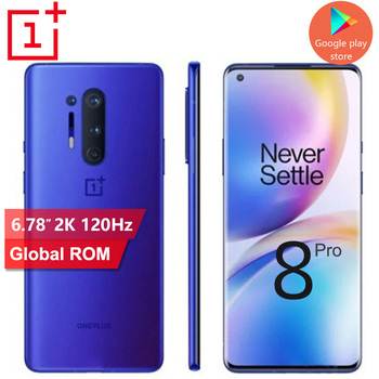 2020 New OnePlus 8 Pro 5G mobile phone 12G 256G Snapdragon 865 Android 10 120Hz Screen refresh Rate 48MP+48MP NFC cell phone