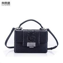 NASIBAO New top Cowhide Embossed fashion luxury handbags women bags designer Genuine Leather bag women shoulder Crossbody bag цена в Москве и Питере