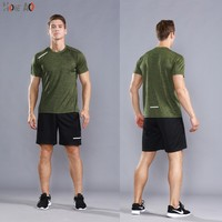 HOWE AO Running Sets Youth Quick Dry Sport Suits Clothing Fitness T Shirts+Shorts Breathable Gym Jogging Suit Sportswear