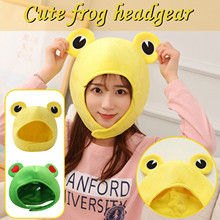 Toy Plush-Frog-Hat Funny Cosplay New Costume Dress-Up-Hat Headgear Gifts Animals Cartoon