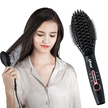 2019 New Hair Straightener Brush Electric Comb Irons Straight Girl Ladies Wet & Dry Care Styling Tools