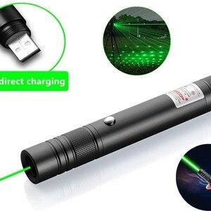Green Laser pointer USB Rechar