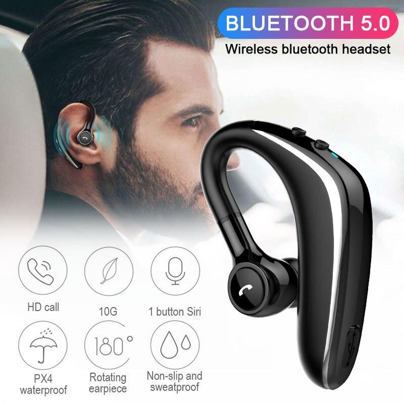 X01 Wireless Earphone Bluetooth 5.0 Headset Long Standby Business Driving Headset HD Mic Waterproof Sports Headphone