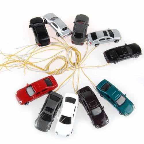 10 rooms painted light burning car model scale cable w / N (1 - 150)