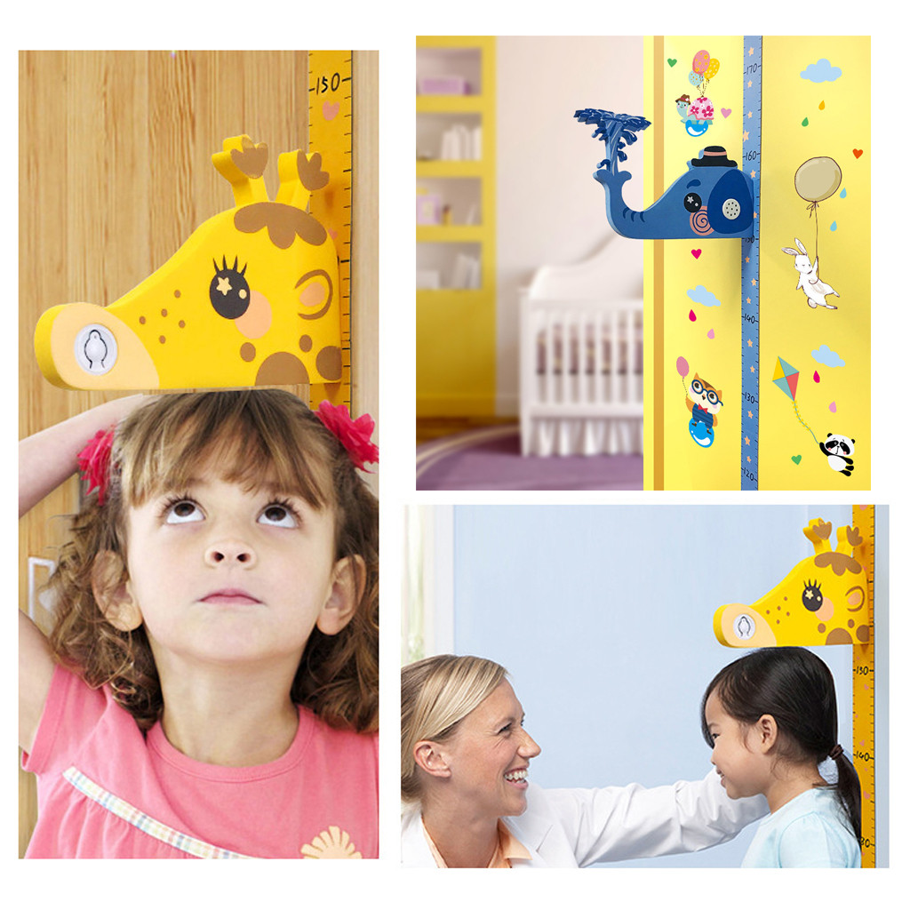 Kids Baby Cartoon Removable Height Chart Measure Wall Sticker Decal Room Decor